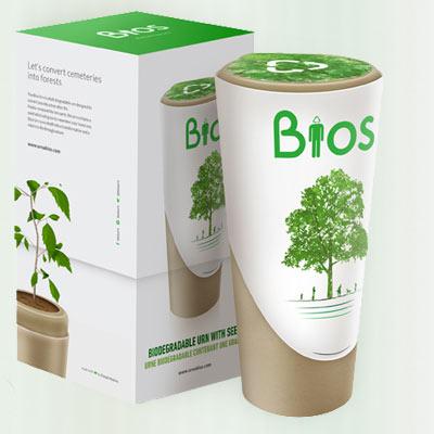 Biologische urn Bios Urn overlijden dood crematie urnen bio Duurzaam Einde