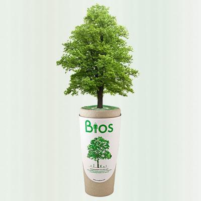 Bios Urn zaailing boom heester herinneringsboom dood crematie as ashouder Duurzaam Einde